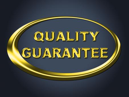 Free Stock Photo of Quality Guarantee Sign Shows Guaranteed Placard And Check
