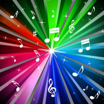 Free Stock Photo of Colorful Music Background Means Beams Light And Songs