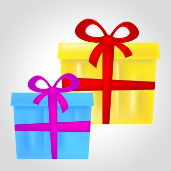 Free Stock Photo of Gift Boxes Represents Christmas Present And Celebrate
