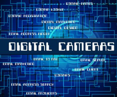 Free Stock Photo of Digital Cameras Indicates Technology Video And Words