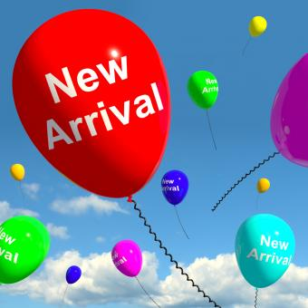 Free Stock Photo of New Arrival Balloons In The Sky Showing Latest Product Online Or New B