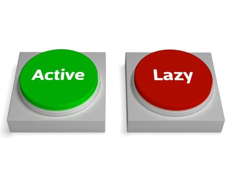 Free Stock Photo of Active Lazy Buttons Shows Action Or Inaction