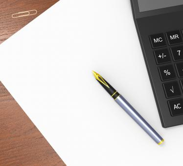 Free Stock Photo of Blank Paper And Calculator Shows Calculating Copyspace Statistics