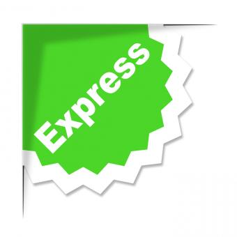 Free Stock Photo of Express Delivery Label Shows High Speed And Courier