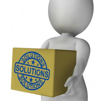Free Stock Photo of Solutions Box Means Solving Problems And Improvement