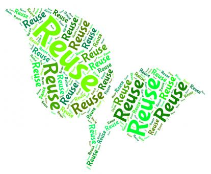 Free Stock Photo of Reuse Word Represents Go Green And Recycle