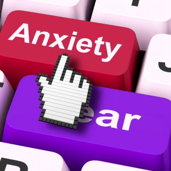 Free Stock Photo of Anxiety Fear Keys Mouse Means Anxious And Afraid