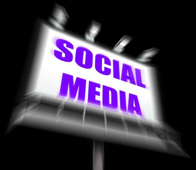 Free Stock Photo of Social Media Sign Displays Internet Communication and Networking