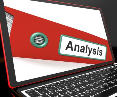 Free Stock Photo of Analysis File On Laptop Showing Analyzed Data