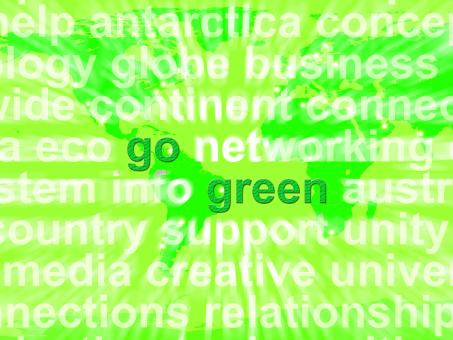 Free Stock Photo of Go Green Words Showing Recycling And Eco Friendly