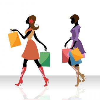Free Stock Photo of Women Shopping Indicates Retail Sales And Adult