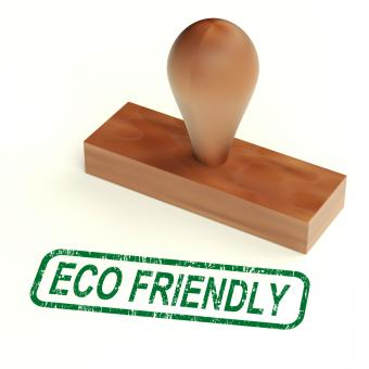Free Stock Photo of Eco Friendly Stamp As Symbol For Recycling Or Nature