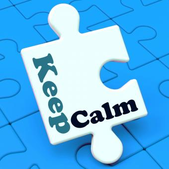 Free Stock Photo of Keep Calm Puzzle Shows Calming Relax And Composed