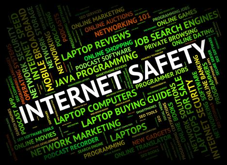 Free Stock Photo of Internet Safety Represents World Wide Web And Beware