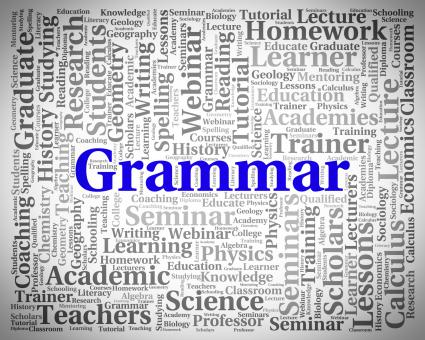 Free Stock Photo of Grammar Word Indicates Rules Of Language And Foreign