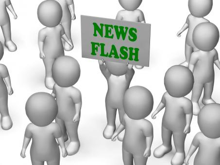 Free Stock Photo of News Flash Board Character Shows Daily News And Journalism
