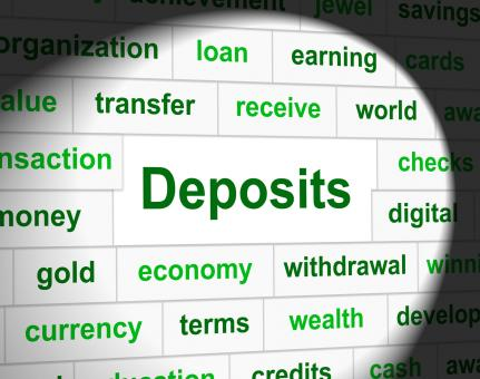 Free Stock Photo of Deposit Deposits Represents Part Payment And Business
