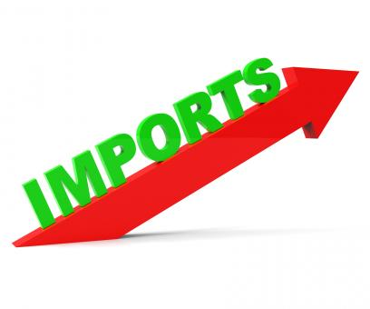 Free Stock Photo of Increase Imports Means Buy Abroad And Arrow