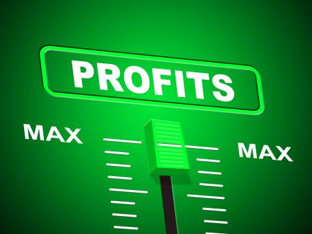 Free Stock Photo of Profits Max Shows Upper Limit And Top