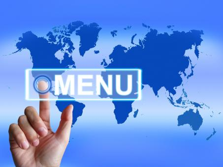 Free Stock Photo of Menu Map Refers to International Choices and Options