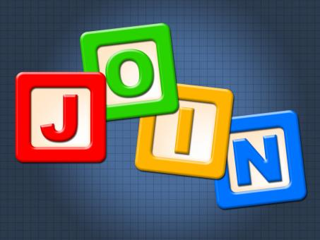 Free Stock Photo of Join Kids Blocks Represents Sign Up And Youngster