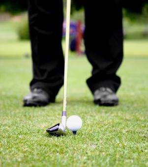 Free Stock Photo of Teeing Off On A Golf Course