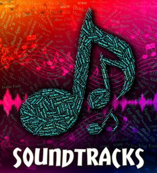 Free Stock Photo of Soundtracks Music Indicates Motion Picture And Accompanying