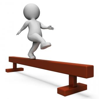 Free Stock Photo of Balance Beam Means Getting Fit And Agility 3d Rendering