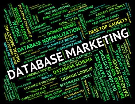 Free Stock Photo of Database Marketing Indicates Databases Text And Promotion