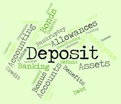 Free Stock Photo of Deposit Word Means Part Payment And Advance