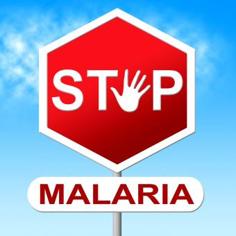 Free Stock Photo of Stop Malaria Indicates Warning Sign And Caution