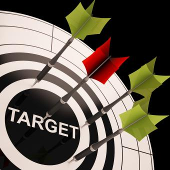 Free Stock Photo of Target On Dartboard Shows Perfect Aiming