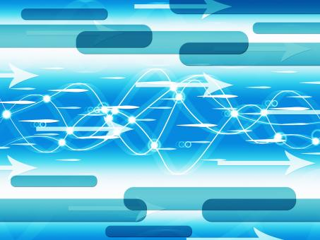 Free Stock Photo of Blue Double Helix Background Means Information Highway