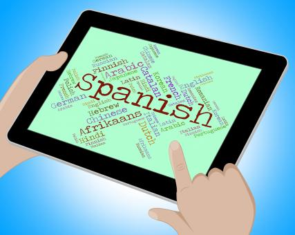 Free Stock Photo of Spanish Language Indicates Vocabulary Lingo And Wordcloud