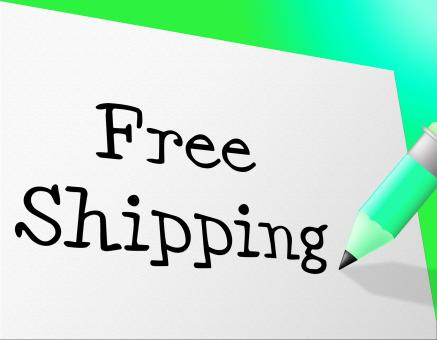 Free Stock Photo of Free Shipping Indicates No Cost And Delivery