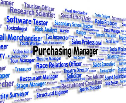Free Stock Photo of Purchasing Manager Indicates Word Client And Buy