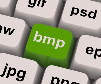 Free Stock Photo of Bmp Key Shows Bitmap Format For Images