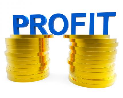 Free Stock Photo of Business Profit Indicates Financial Profitable And Cash