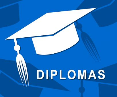 Free Stock Photo of Diplomas Mortarboard Shows Qualifications Degrees And University