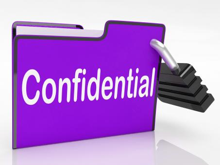 Free Stock Photo of Confidential Security Means Restricted Organize And Confidentially