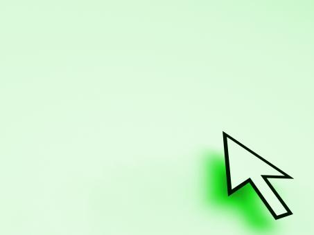 Free Stock Photo of Cursor Pointer On Green Background Shows Blank Copyspace Website