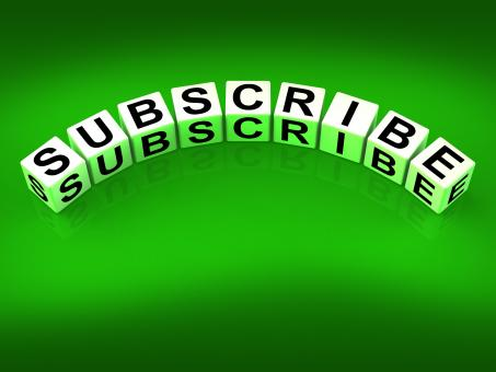 Free Stock Photo of Subscribe Blocks Represent to Sign up or Apply