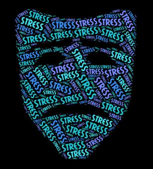 Free Stock Photo of Stress Word Represents Stressful Overload And Wordclouds