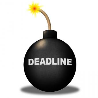 Free Stock Photo of Deadline Limit Indicates Finishing Time And Caution