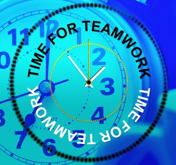 Free Stock Photo of Time For Teamwork Means Cooperation Together And Teams