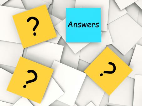 Free Stock Photo of Questions Answers Post-It Notes Mean Inquiries And Solutions
