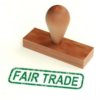 Free Stock Photo of Fair Trade Rubber Stamp Shows Ethical Products