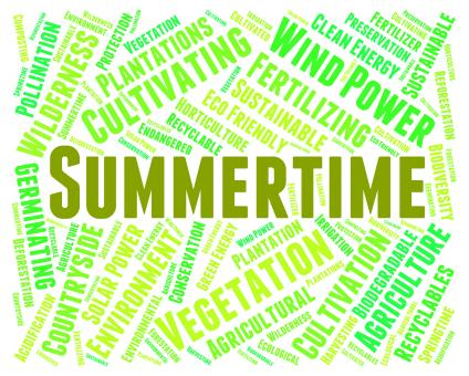 Free Stock Photo of Summertime Word Represents Text Warm And Season