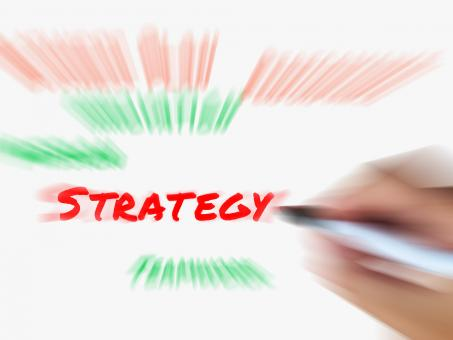 Free Stock Photo of Strategy on Whiteboard Displays Planning Goals Objectives and Strategi