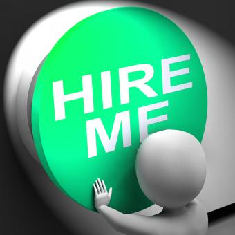 Free Stock Photo of Hire Me Pressed Means Job Applicant Or Freelancer